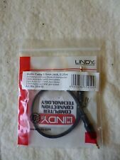 Lindy 0.25m Audio Cable - 3.5mm Stereo Jack Male to 3.5mm Stereo Jack Male