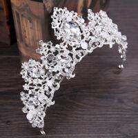 Princess Austrian Bridal Crystal Wedding Hair Tiara Crown Prom Veil Headband Hot