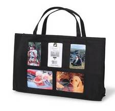 PHOTO TOTE Picture Brag BAG Handled Gallery Purse NEW Black windows gift baby