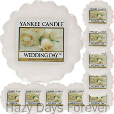 10 SCENTED YANKEE CANDLE WAX TARTS Wedding Day FREE P&P