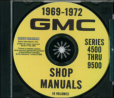 GMC Shop Manual CD Heavy 7500 8500 9500 1970 1971 1972 Repair and Service