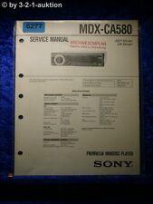 Sony Service Manual MDX ca580 Mini Disc Player (#6277)