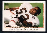 27 ~~ PEPPER JOHNSON FOOTBALL CARDS!!