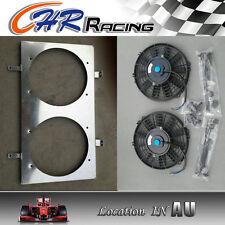 Aluminum Radiator Shroud Fan with 2*12''fan for NISSAN Silvia S13 SR20DET