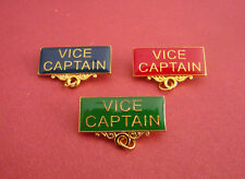 Vice Captain Metal Badge Bar Pin Choose From 3 Colours