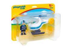 Playmobil 1.2.3 Helicóptero de Policía - 9383 PLAYMOBIL