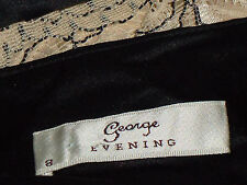 GEORGE(evening) StrappyNudeSatinLacePartySz8EUC