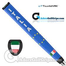TourMARK Italia / Italy Jumbo Pistol Putter Grip - Blue / White + Free Tape