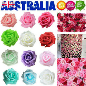 50pcs Artificial Flowers Foam Rose Fake Flower Wedding Party Bouquet Decor