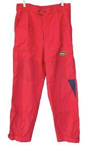 VTG Timberland Atlantis Weathergear Sailing Fishing Red Pants Trousers Mens M