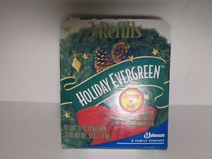 Glade Plugin Refill Holiday Evergreen Scented Open Box 3 Cartridges Retired 2001