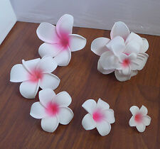 25 Pieces Artificial Foam Flowers Pink Plumeria Home Wedding Decor