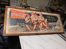 QUADRO STAMPA in legno vintage ANNI '80 COCA COLA