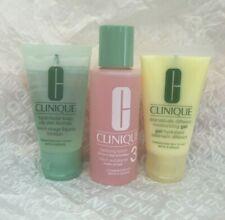 Clinique 3 Step Dramatically Moisturizing Gel Oily Facial Soap Clarifying Lotion
