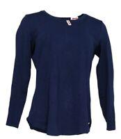 Isaac Mizrahi Live! Essentials Pima Cotton Seamed Knit Top (Blue, S) A345747
