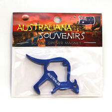 Kangaroo Australia (blue), Bottle Opener, Fridge Magnet, Souvenir.