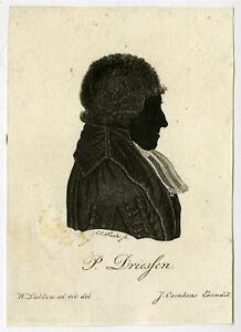 Rare Antique Master Print-PORTRAIT-P. DRIESSEN-PROFESSOR-Lubbers-Fuchs-ca. 1820