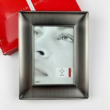 Winfield Brushed Pewter Metal Picture Frame Picture Size 5 x 7 Silver Gray