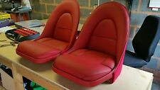 Jaguar E type roadster leather seat covers