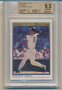 1991 O-Pee-Chee Premier Don Mattingly (#77) (Population of 1) BGS9.5 BGS
