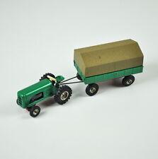 CKO Kellermann 389 Traktor mit Anhänger mit Plane - Blechspielzeug - Trecker