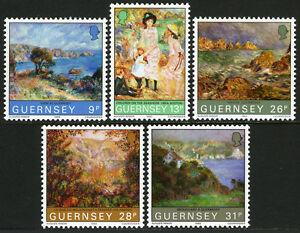Guernesey 264-268, MNH Tableaux Par Renoir, 1983