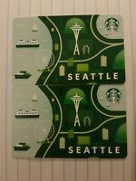 Two New 2020 Seattle Starbucks Gift Cards.  PINs intact.