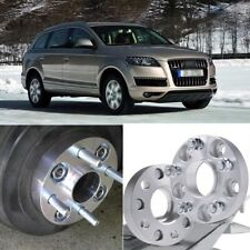 2pcs 5X130 71.6CB 25MM Hubcenteric Wheel Spacer Adapters For Audi Q7 2006-2014