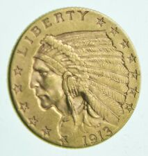 1913 $2.50 Indian Head Gold Quarter Eagle - Walker Coin Collection *966