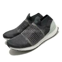 adidas UltraBOOST Laceless Carbon Grey Silver Men Slip On Running Shoes CM8267