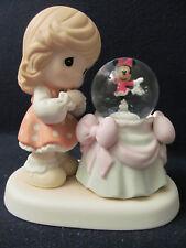 Nib Precious Moments Disney Minnie Skating in Snowglobe #710036_Aren't You Sweet