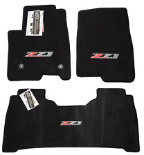 New Chevrolet Silverado 1500 Floor Mats Z71 Logos 2nd Row w/ Tray Jet Nice 32Oz (Fits: Chevrolet)