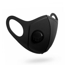 ADULT UNISEX REUSABLE BREATHABLE SKIN FRIENDLY MOUTH FACE MUFFLE WITH VALVE- 498