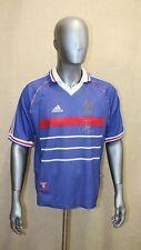 Maillot équipe de France Adidas coupe du monde 98 signé DJORKAEFF domicile M