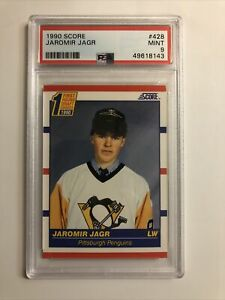 1990 Score Hockey Jaromir Jagr #428 Penguins Rookie PSA 9 MINT New Cert Centered