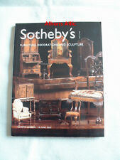 SOTHEBYS AUCTION CATALOG Furniture, Decorations and Sculpture (London) 6/19/02