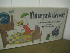 What can you do with a Shoe/ maurice sendak/ HB/de  Regniers/ 1997/ first ed