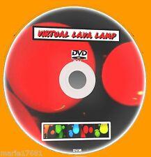 Virtual lampada a lava su TV Multi Colore effetti Sooth & rilassante con suono DVD NUOVO