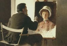 """oil painting """" Kramskoy Painting a Portrait of his Daughter """"@NO3814"""