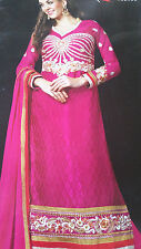 Bollywood Indian Pakistani Partywear Suit Anar Ethnic Suit [Hand Resham Wo