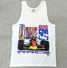 Vintage 90s Indy 500 Racing Indianapolis Tank Top Graphic T Shirt Medium