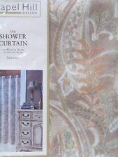 "Croscill Palazzo Fabric Shower Curtain 70 x 72""  & 12 Matching SC Hooks NEW"