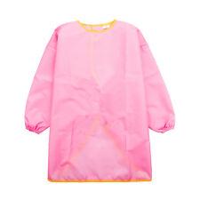 Toddler Kids Waterproof Long Sleeve Apron Painting Cooking Smock S Pink