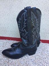 Dan Post Milwaukee 2110 J Black Leather Cowboy Boots Men's Size 8.5 D EXCELLENT