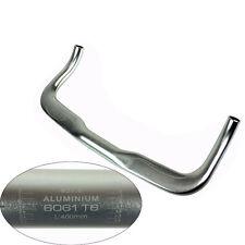31.8mm Bullhorn Riser Bar TT Bar Fixed Gear Bike Bicycle Handlebar Silver B144