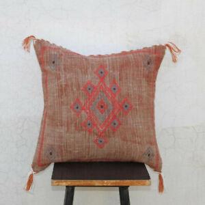 Cactus Silk Inspired Handmade Linen Pillow Cushion Cover