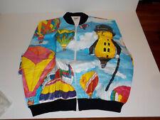 Nos Vtg Mr Peanut Tyvek Zip Up Jacket Xxl Oldstock Unworn Hot Air Balloons