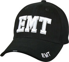 Black Deluxe EMT Low Profile Baseball Hat Cap