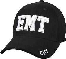 Black Deluxe EMT Low Profile Baseball Hat Cap