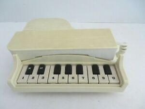 Vintage 1985 GTE Columbia Grand Piano Telephone Cream AS IS   #4475
